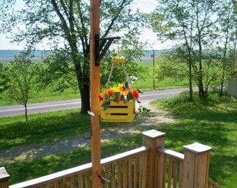 Hanging Flower Pot Planter, Indoor Hanging Planter,Hanging Plant, Deck Decor, Patio Decor, Deck Hanging Planter, Outdoor Hanging Planter