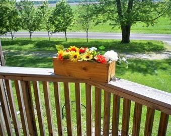 Decorative Window Flower Box, Wood Window Flower Box, Center Piece, Country Center Piece, Deck Flower Box, Indoor & outdoor Flower Box,