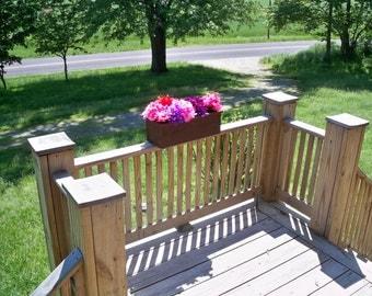 Rustic Flower Box, Rustic,   Centerpiece, Center Piece, Wood Flower Box, Deck Flower Planter, Patio Flower Box, Flower Box