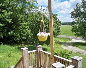 Hanging Flower Pot Planter, Wood Hanging Planter,Hanging Plant, Patio Decor, Indoor Hanging Planter, Flower Pot Hanger, Hanging Planter,