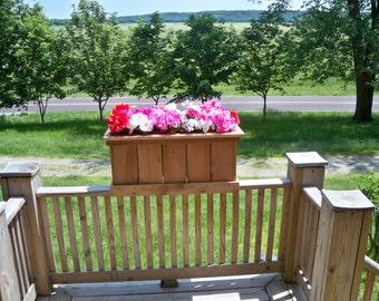 Deck Planter, Patio Planter, Garden Cedar Planter, Large Cedar Planter, Large Wood Planter, Large Wood Patio Planter,
