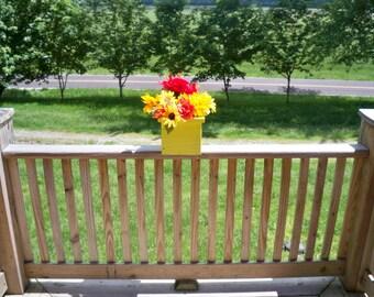 Rustic Flower Pot, Rustic Deck Flower Pot, Rustic Center Piece, Indoor Outdoor Flower Pot, Patio Flower Pot, Garden Flower Pot,