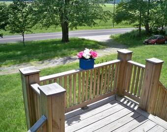 Rustic Wood Flower Pot , Rustic Wood Centerpiece, Deck Flower Pot, Indoor Flower Pot, Patio Flower Pot, Garden Flower pot