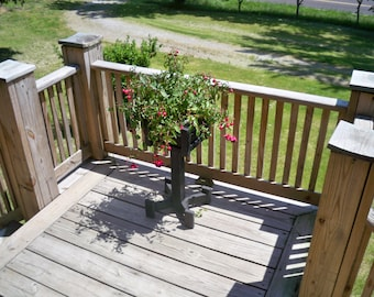 Wood Plant Stand,Plant Stand, Outdoor Flower Stand, Wooden Deck Flower Stand ,