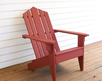 Adirondack Chair, Wood Adirondack Chair, Wood Deck Chair, Adirondack Furniture, Patio Furniture, Deck Furniture, Wood Deck Furniture