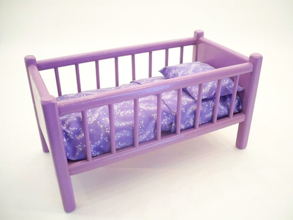 Classic Doll Bed Wood Doll Bed American Doll Bed Doll