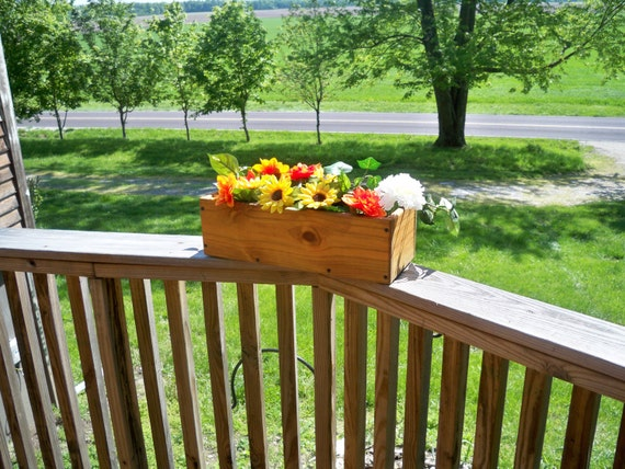 Decorative Window Flower Box, Wood Window Flower Box, Center Piece, Country Center Piece, Deck Flower Box, Indoor & outdoor Flower Box,
