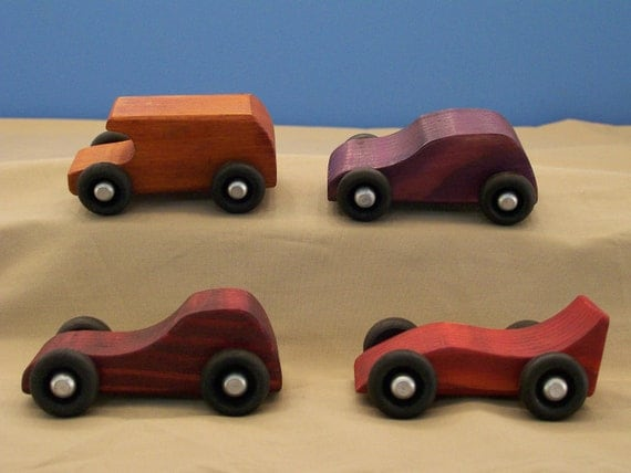 Small Toy Cars For Boys : Items similar to wood toy cars small