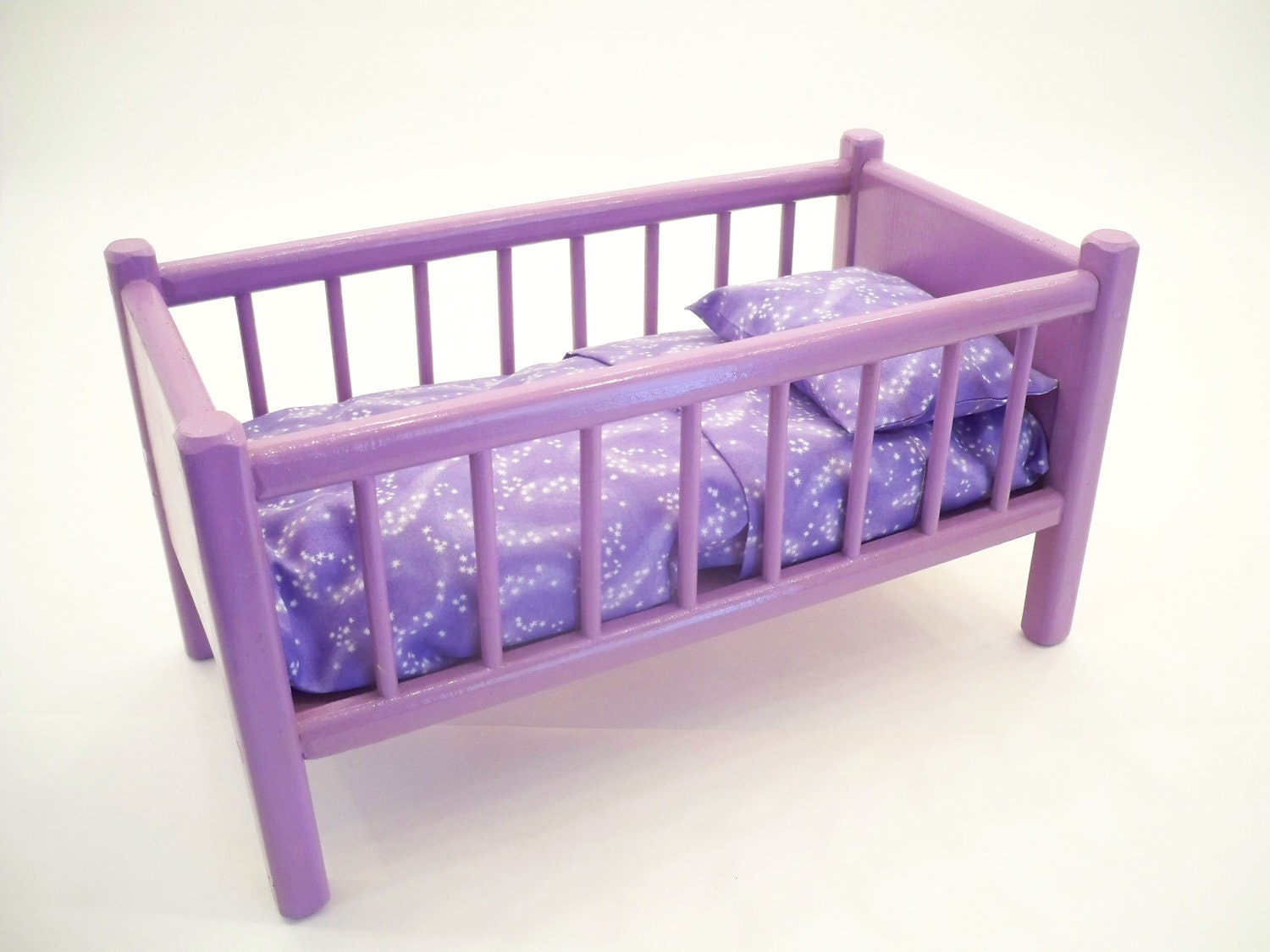 Classic doll bed wood doll bed american doll bed doll Wooden baby doll furniture