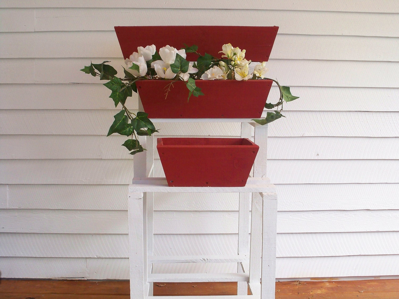 window flower box shelf wood flower pot shelf indoor flower