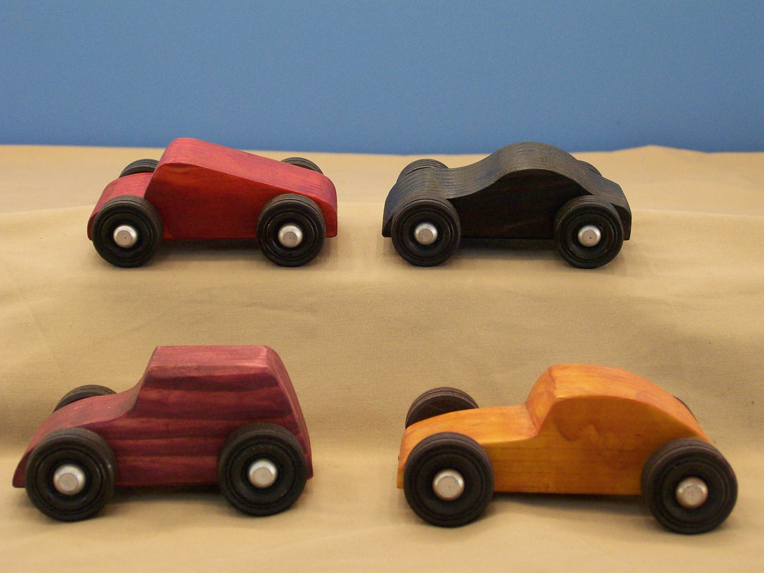 Wood Toy Cars Small Wood Toy Cars Wood Toys by HummelCreations