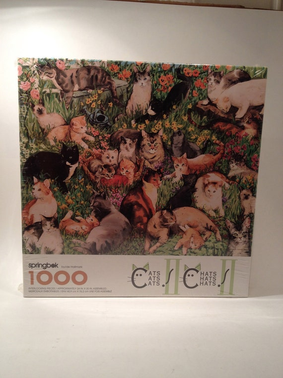 Cats Cats Cats II Puzzle Springbok Hallmark, Cats Cats Cats II Puzzle 1000 PIECES Pzl6195 New Sealed