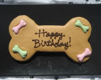 Gourmet Dog Treats - Decorated Dog Birthday Cookie