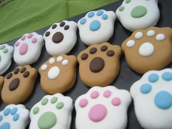 Gourmet Dog Treats Peanut Butter Paws Decorated Dog Treats