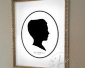Custom Silhouette Portrait 8x10 - Single