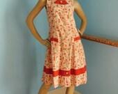 Vintage 1940s cotton sun dress Small