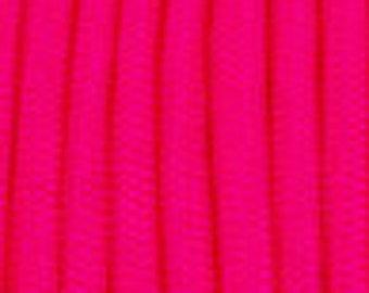 50 ft hank of Hot Pink(Neon) 550 Paracord
