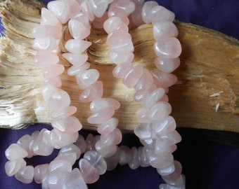 Vintage 16x11mm Natural Rose Quartz Nugget Beads.    70 Beads.