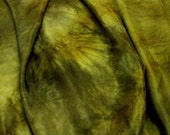 Machu Picchu - silk ponge 5 momme - Hand dyed painted perfect for nuno felting / 2 metres