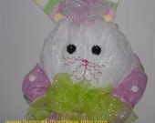 Easter Wreath - Easter Bunny - Whimsical Bunny