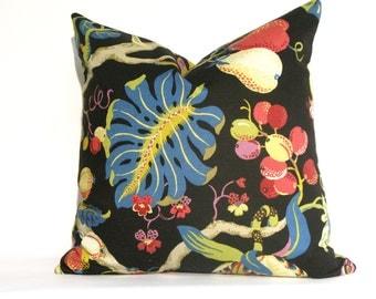 SALE - Decorative Designer Floral Pillow Cover - 18x18, Black, Blue, Green, Pink, Throw Pillow