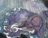 RESERVED FOR MARISA - Memento Mori - Skull Watercolour Painting