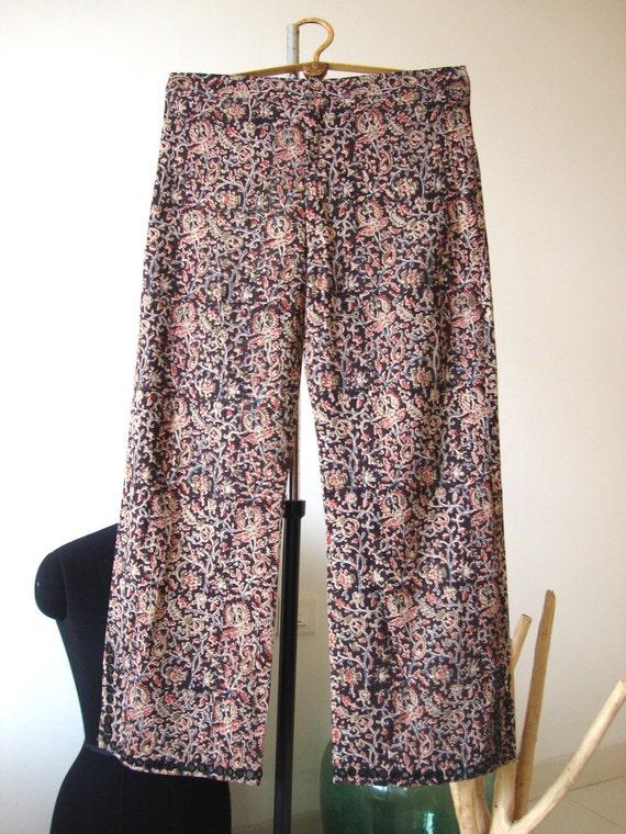 Women cotton pant hand block printed bottom trouser  Gypsy Clothing Summer wear Beachwear