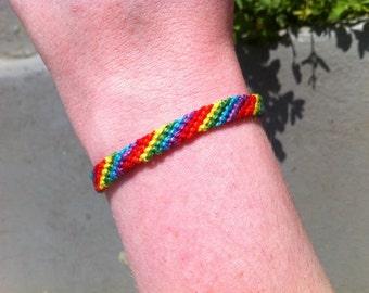 Hand Woven Rainbow Friendship Bracelet
