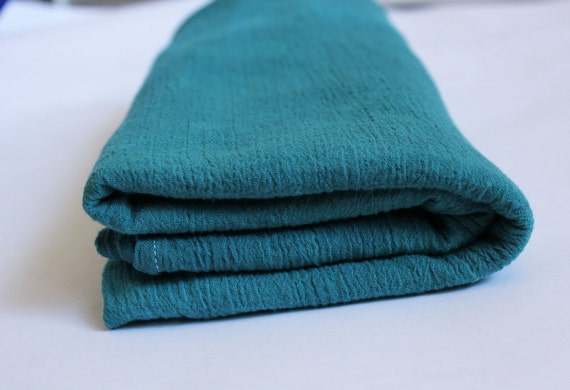 Swaddle Blanket in Teal Hand Dyed Cotton Gauze