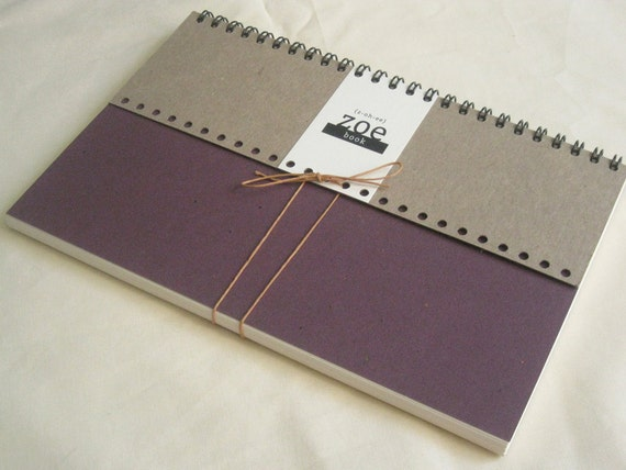 Zoe Book: Plain Paper with Purple cover