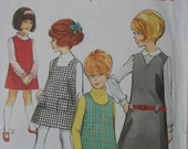 1960s Girl's Pinafore  Dress STYLE Sewing Pattern 2076. Size 12. Breast 30 inches.