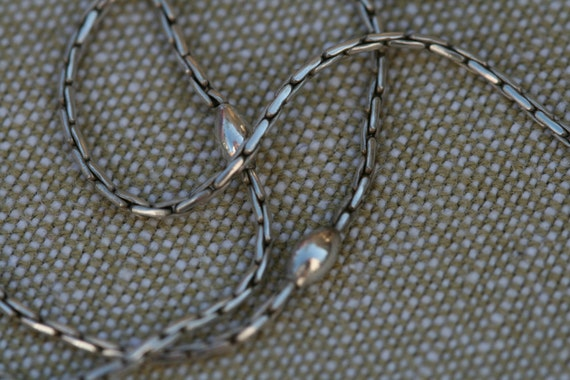 Stirling Silver Danish Necklace Chain- Extra Long