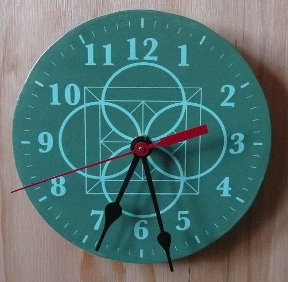 CLOCKSTEADY 1 (green on green wall clock)