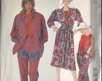 Vintage McCalls 2365 Misses Shirt, Top, Skirt and Pants  Size 10  1986 UNCUT