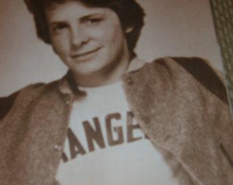 YOUNG MICHEAL J FOX Photo Print 11x14 Sepia  1980s  N1