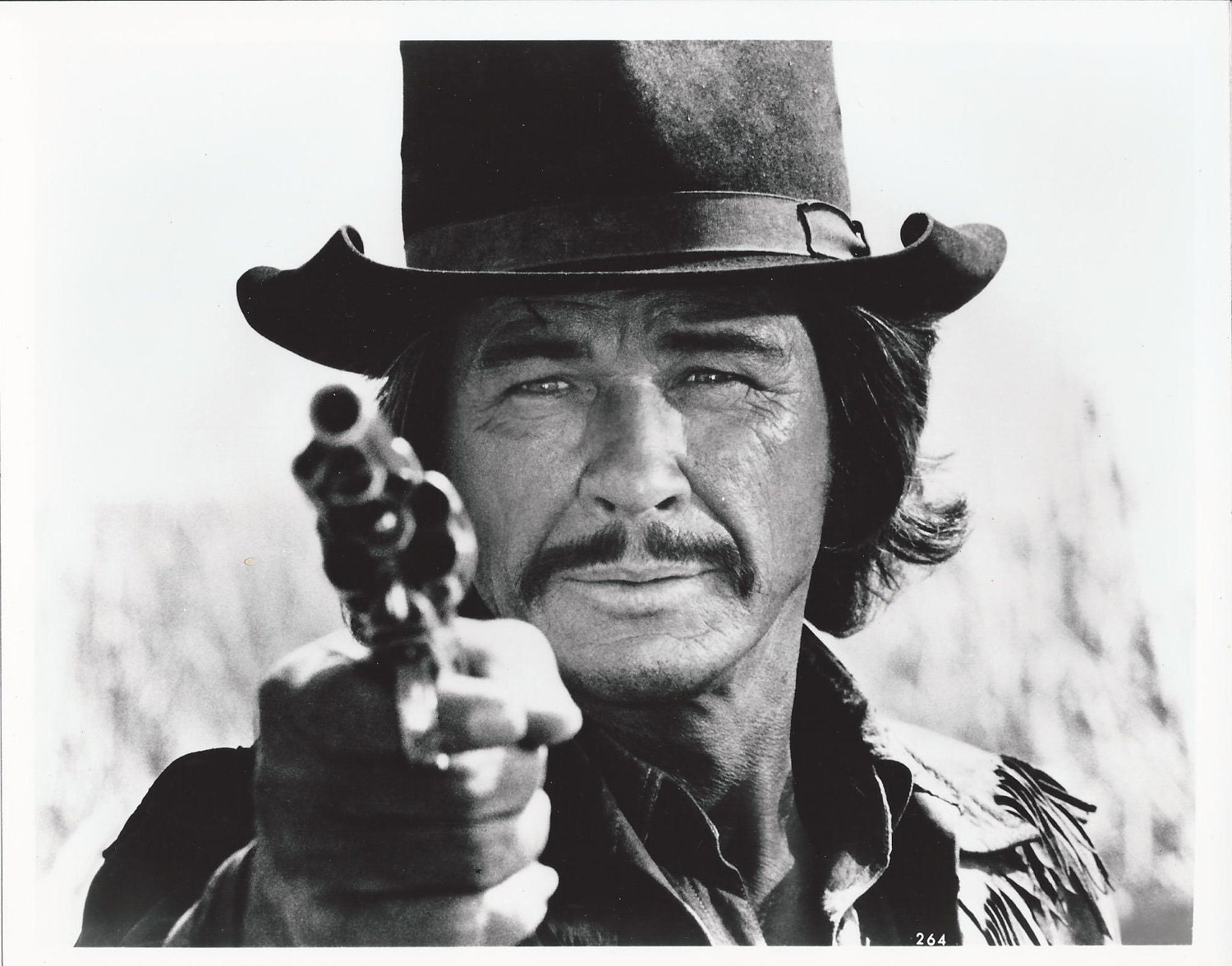 CHARLES BRONSON 8x10 Black and White Photo 1980s