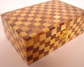 Chess check wooden Box