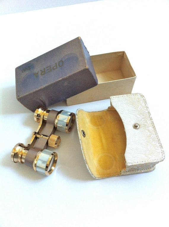 Vintage Opera Glasses / Binoculars with Case and Box