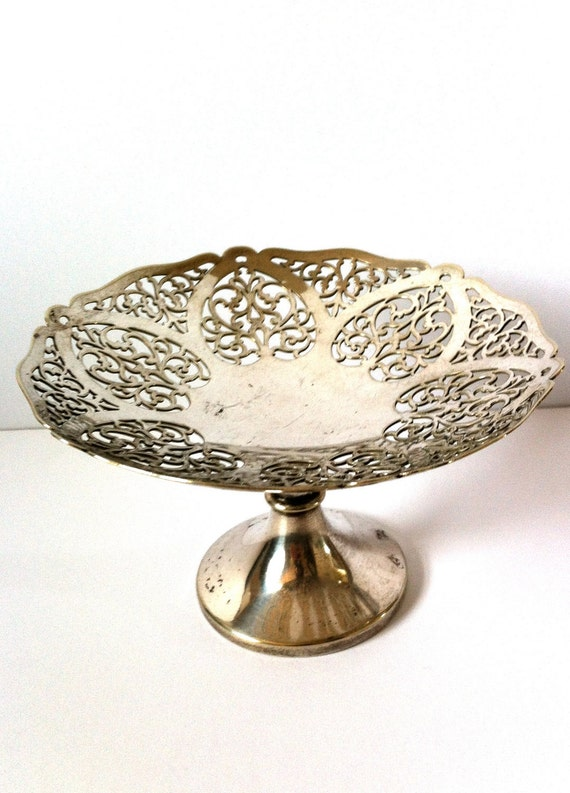Silver Plated Mini Cake Stand, Hallmarked EPNS