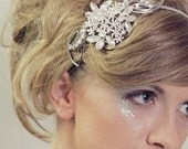 Rhinestone bridal headband, wedding vintage inspiration hair piece