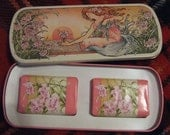 Reserved for Mari -  Beautiful Avon Art Nouveau Pre Raphaelite Fairy Soap in Tin New