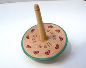 Get Well Soon... Wooden Spinning Top - Personalised toy