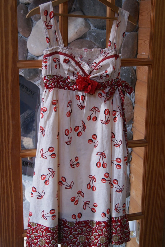 Adorable Upcycled dress, of Cottage Chic, Country Chic, Farmhouse girl, Romantic French English Cottage, Spring French country, Summer Beach