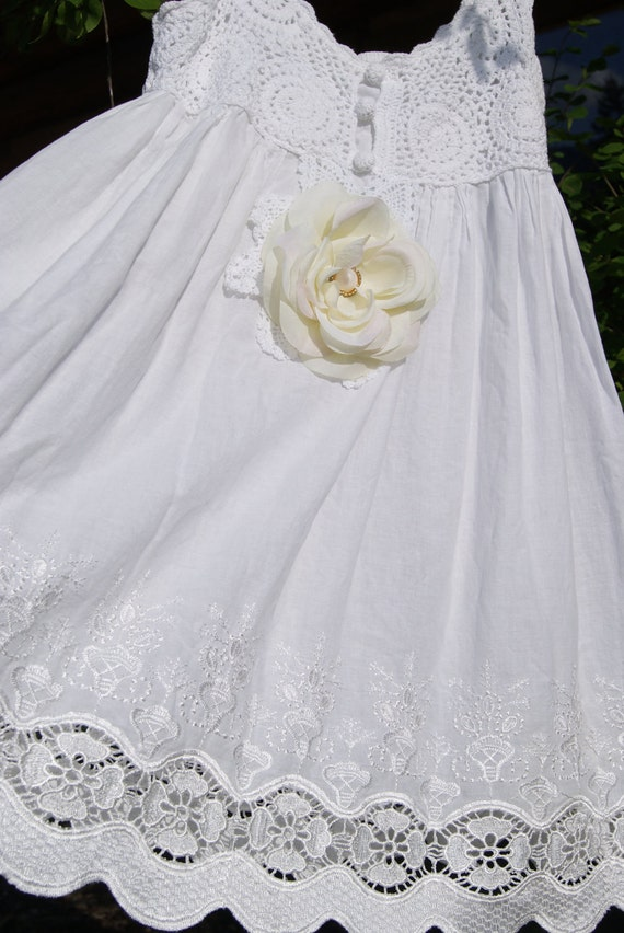Beautiful Upcycled Recycled dress, Girly, Summer chic, Retro vintage, Romantic French, English cottage, Shabby chic, Cottage chic