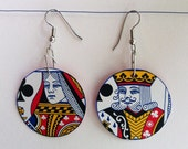 Poker-face Playing Card Earrings