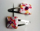 Pink and Yellow Hair Clips