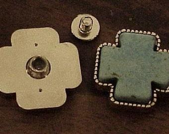 5 Cross Conchos Turquoise