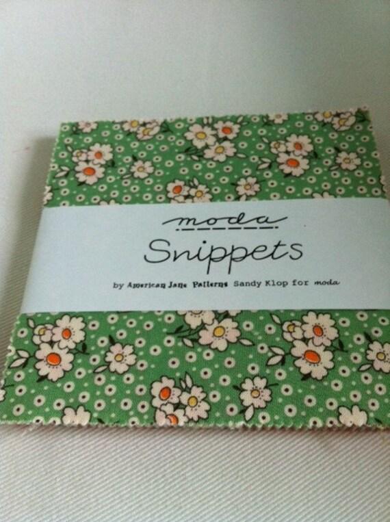 American Jane Snippets Charm Pack Moda Fabrics