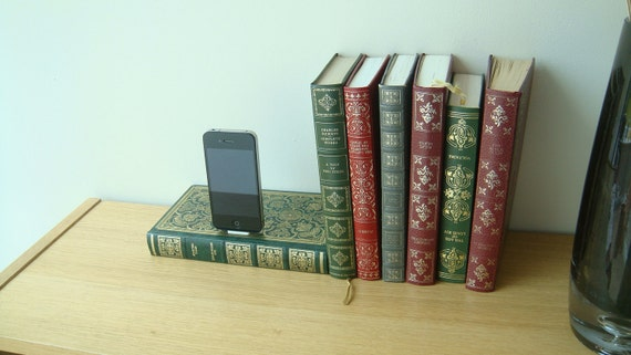 Edgar Allan Poe  book dock for an iPhone or iPod ideal birthday gift