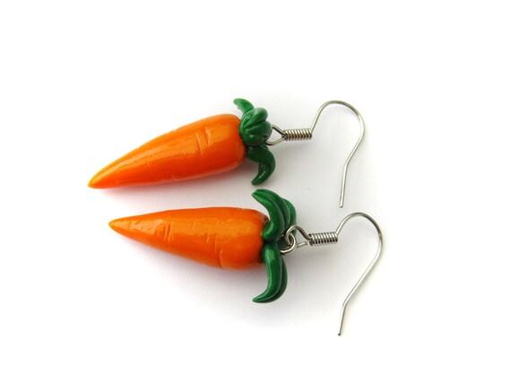 Little Carrot Earrings (Polymer Clay Jewelry)
